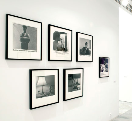 Installation view of the Ain't Jokin' series