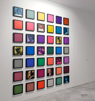 Installation view of          the Colored People series at the Center of Contemporary Art in Seville, Spain