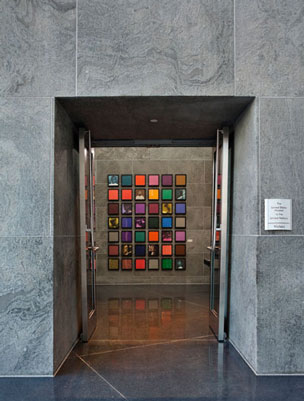 Installation view of          the Colored People series at the United States mission to the United Nations, New York