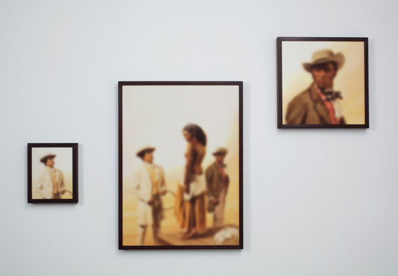 Installation view          of the series Mandingo