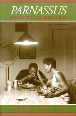 Cover of Parnassus Poetry         in Review journal with image from Kitchen Table Series by Carrie Mae Weems