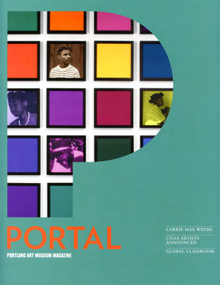 Carries work on the         cover of Portal