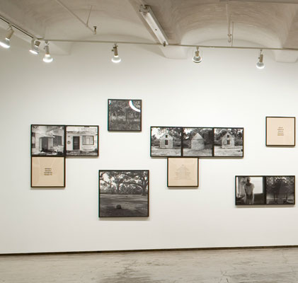 Installation view of          the Sea Islands Series
