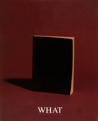 Image from the Who, What, Where, When series featuring a small black notebooks