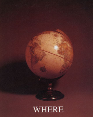 Image from the Who, What, Where, When series featuring a globe