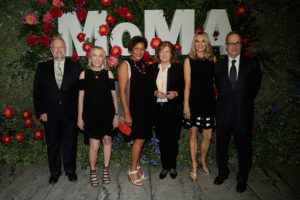 Carrie with other honorees at Party in the Garden, MoMA 2017