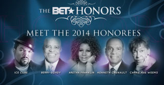 Meet the BET 2014 Award winners Carrie Mae Weems             Aretha Franklin, Berry Gordy, Ice Cube, Kenneth Chenault