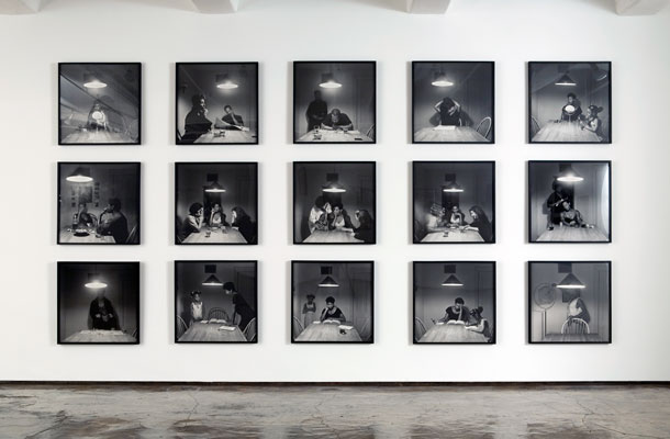 carrie mae weems : the kitchen table series, 1990 Black and White Kitchen Table